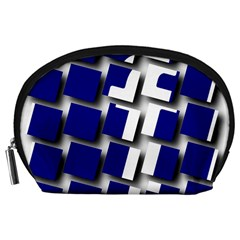 Facebook Social Media Network Blue Accessory Pouches (large)