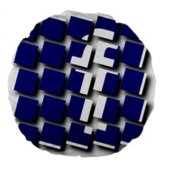 Facebook Social Media Network Blue Large 18  Premium Flano Round Cushions