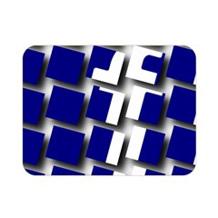 Facebook Social Media Network Blue Double Sided Flano Blanket (mini)