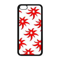 Star Figure Form Pattern Structure Apple Iphone 5c Seamless Case (black)