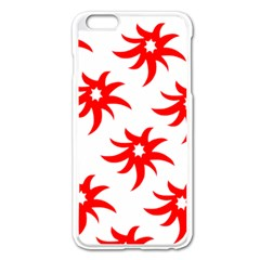 Star Figure Form Pattern Structure Apple Iphone 6 Plus/6s Plus Enamel White Case
