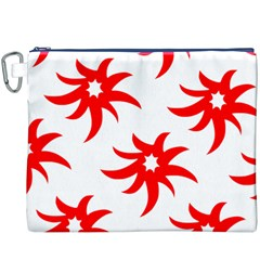 Star Figure Form Pattern Structure Canvas Cosmetic Bag (xxxl)