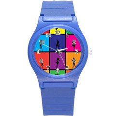 Girls Fashion Fashion Girl Young Round Plastic Sport Watch (s)