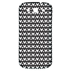 Heart Black Chain White Samsung Galaxy S3 S Iii Classic Hardshell Back Case