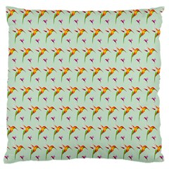 Birds Hummingbirds Wings Standard Flano Cushion Case (two Sides)