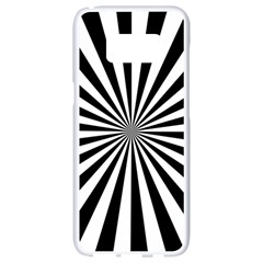 Rays Stripes Ray Laser Background Samsung Galaxy S8 White Seamless Case