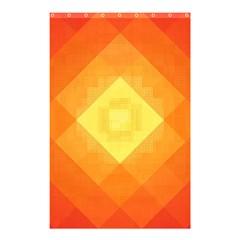 Pattern Retired Background Orange Shower Curtain 48  X 72  (small)