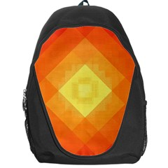 Pattern Retired Background Orange Backpack Bag