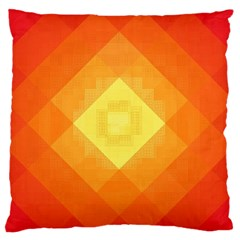 Pattern Retired Background Orange Large Flano Cushion Case (one Side)