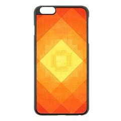 Pattern Retired Background Orange Apple Iphone 6 Plus/6s Plus Black Enamel Case