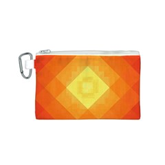 Pattern Retired Background Orange Canvas Cosmetic Bag (s)