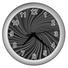 Abstract Art Color Design Lines Wall Clocks (silver)