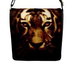 Cat Tiger Animal Wildlife Wild Flap Messenger Bag (l)
