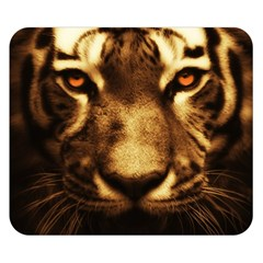 Cat Tiger Animal Wildlife Wild Double Sided Flano Blanket (small)