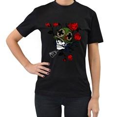 Skull Skeleton Dead Death Face Women s T Shirt (black)