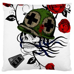 Skull Skeleton Dead Death Face Large Cushion Case (two Sides)