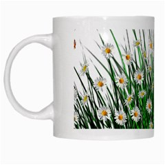 Spring Flowers Grass Meadow Plant White Mugs