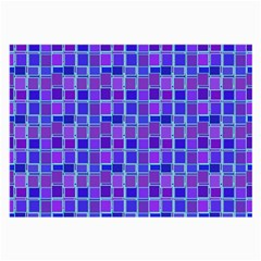Background Mosaic Purple Blue Large Glasses Cloth (2 Side)