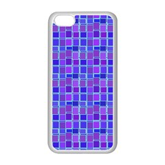 Background Mosaic Purple Blue Apple Iphone 5c Seamless Case (white)