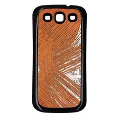 Abstract Lines Background Mess Samsung Galaxy S3 Back Case (black)