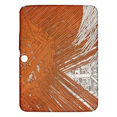 Abstract Lines Background Mess Samsung Galaxy Tab 3 (10 1 ) P5200 Hardshell Case