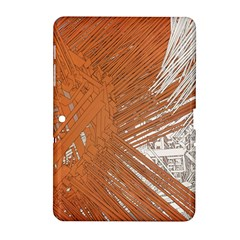 Abstract Lines Background Mess Samsung Galaxy Tab 2 (10 1 ) P5100 Hardshell Case