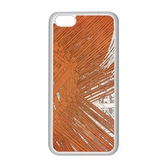 Abstract Lines Background Mess Apple Iphone 5c Seamless Case (white)