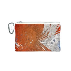 Abstract Lines Background Mess Canvas Cosmetic Bag (s)