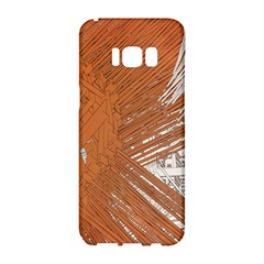 Abstract Lines Background Mess Samsung Galaxy S8 Hardshell Case
