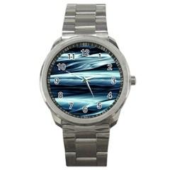 Texture Fractal Frax Hd Mathematics Sport Metal Watch