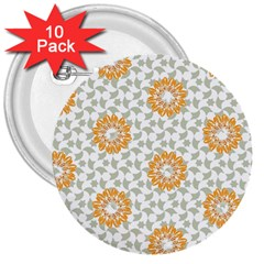 Stamping Pattern Fashion Background 3  Buttons (10 Pack)