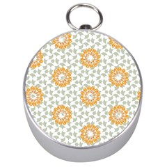 Stamping Pattern Fashion Background Silver Compasses