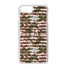 Grunge Textured Abstract Pattern Apple Iphone 8 Plus Seamless Case (white)