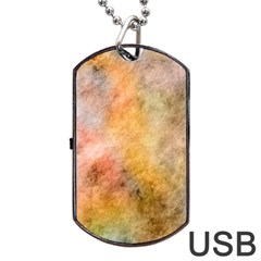 Texture Pattern Background Marbled Dog Tag Usb Flash (one Side)