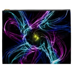 Abstract Art Color Design Lines Cosmetic Bag (xxxl)