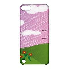Pine Trees Sunrise Sunset Apple Ipod Touch 5 Hardshell Case With Stand