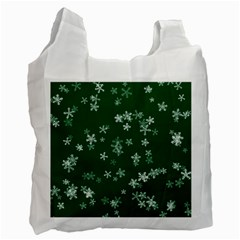 Template Winter Christmas Xmas Recycle Bag (one Side)