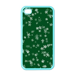 Template Winter Christmas Xmas Apple Iphone 4 Case (color)