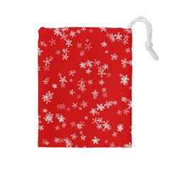 Template Winter Christmas Xmas Drawstring Pouches (large)