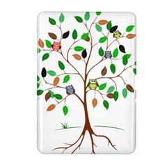 Tree Root Leaves Owls Green Brown Samsung Galaxy Tab 2 (10 1 ) P5100 Hardshell Case