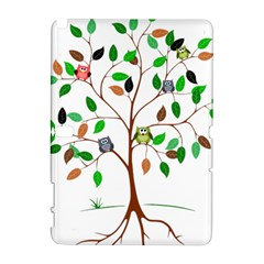 Tree Root Leaves Owls Green Brown Galaxy Note 1