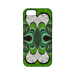 Fractal Art Green Pattern Design Apple Iphone 5 Classic Hardshell Case (pc+silicone)