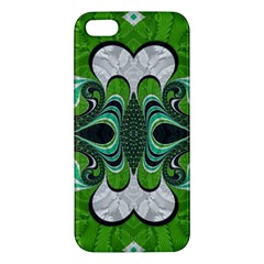 Fractal Art Green Pattern Design Apple Iphone 5 Premium Hardshell Case