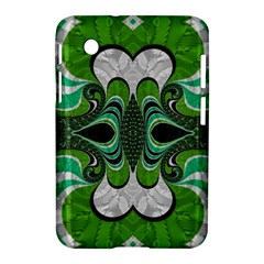 Fractal Art Green Pattern Design Samsung Galaxy Tab 2 (7 ) P3100 Hardshell Case
