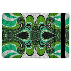 Fractal Art Green Pattern Design Ipad Air 2 Flip