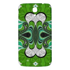 Fractal Art Green Pattern Design Samsung Galaxy Mega I9200 Hardshell Back Case