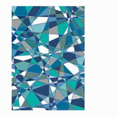Abstract Background Blue Teal Large Garden Flag (two Sides)