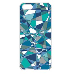 Abstract Background Blue Teal Apple Iphone 5 Seamless Case (white)