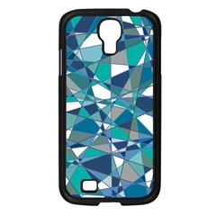Abstract Background Blue Teal Samsung Galaxy S4 I9500/ I9505 Case (black)