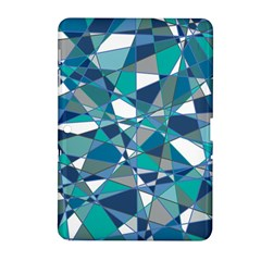 Abstract Background Blue Teal Samsung Galaxy Tab 2 (10 1 ) P5100 Hardshell Case